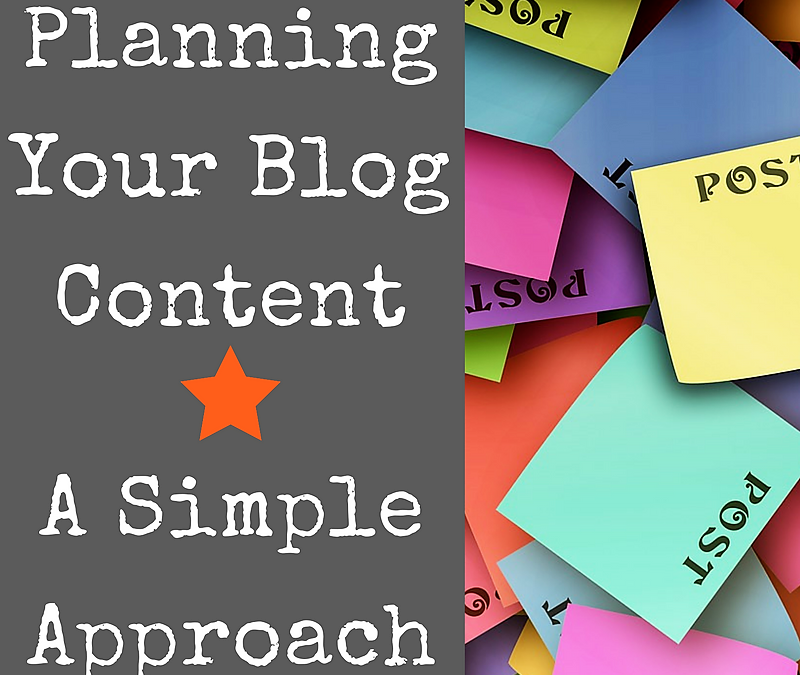 Planning Your Blog Content – A Simple Approach